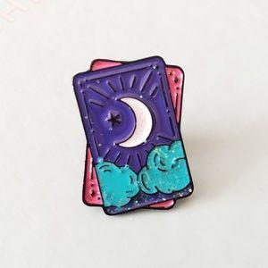 {5/$25} Tarot card midnight sky enamel pin